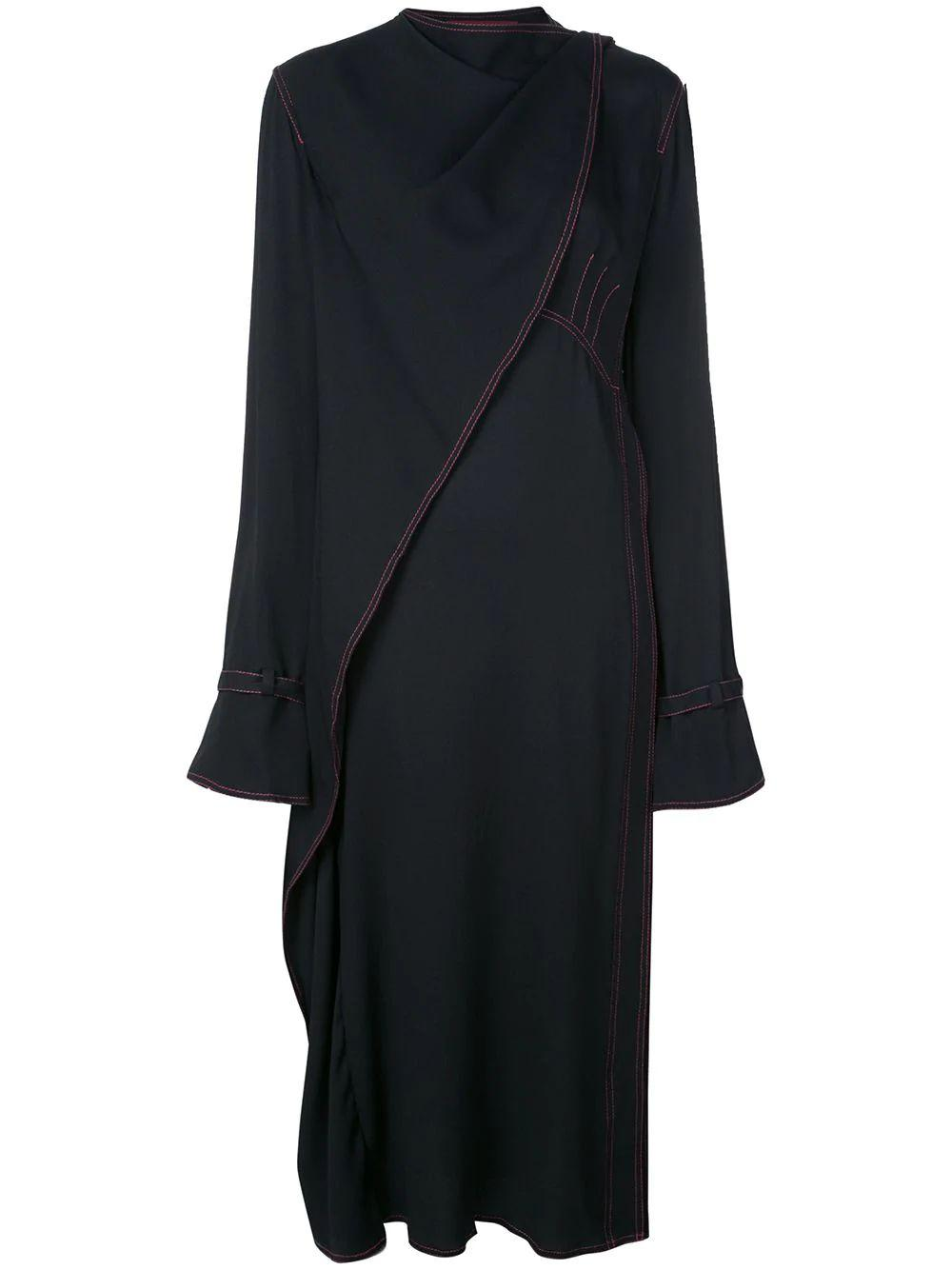 Dimity Marocaine Long Sleeve Dress With Straps Item # 13MR5194-MAROCAINE