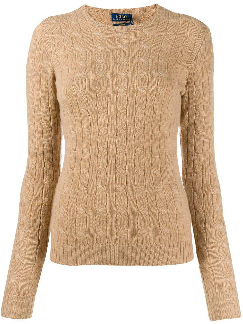Long Sleeve Cashmere Cable Sweater