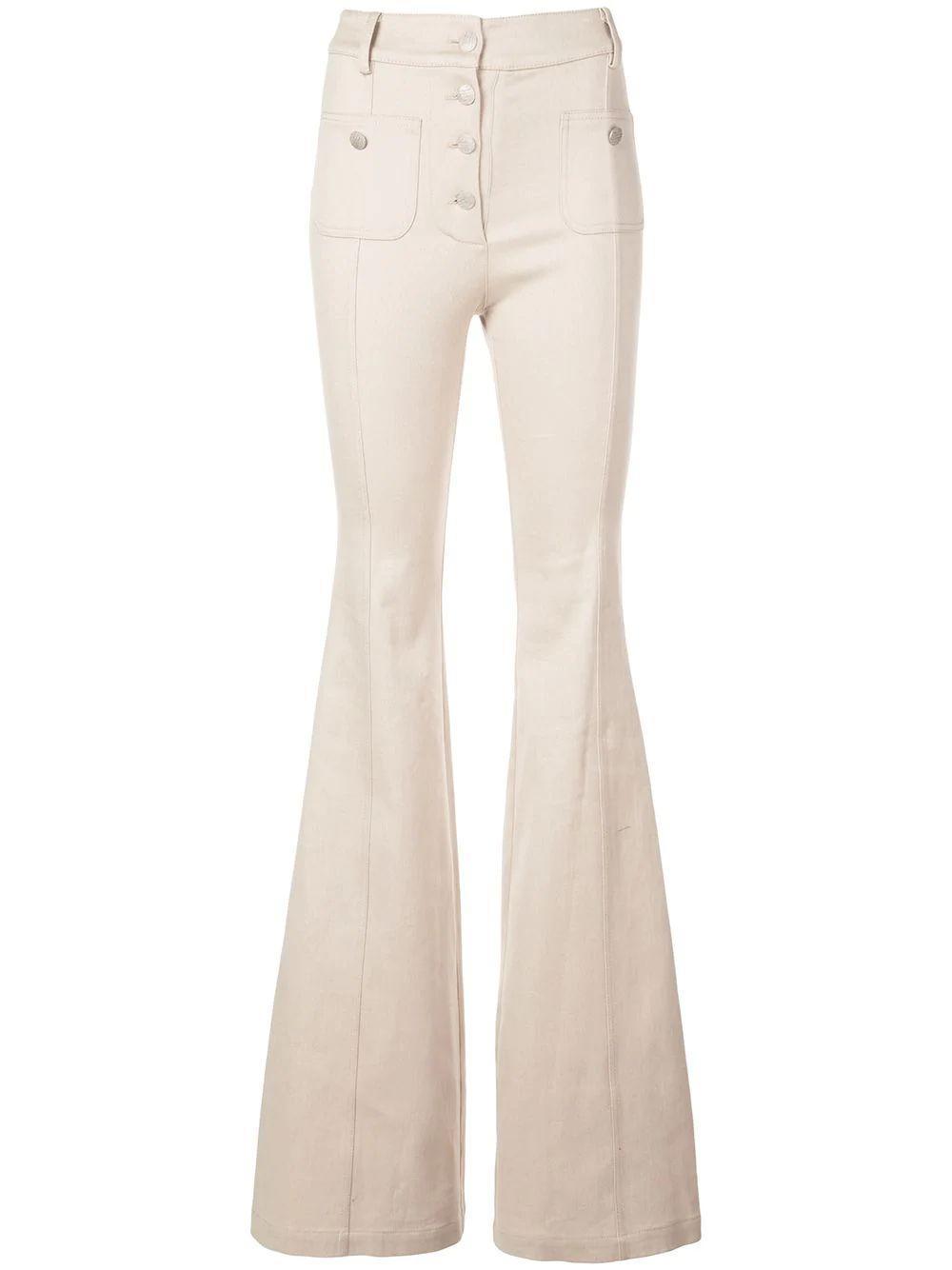Helene High Waist Flare Button Up Jean