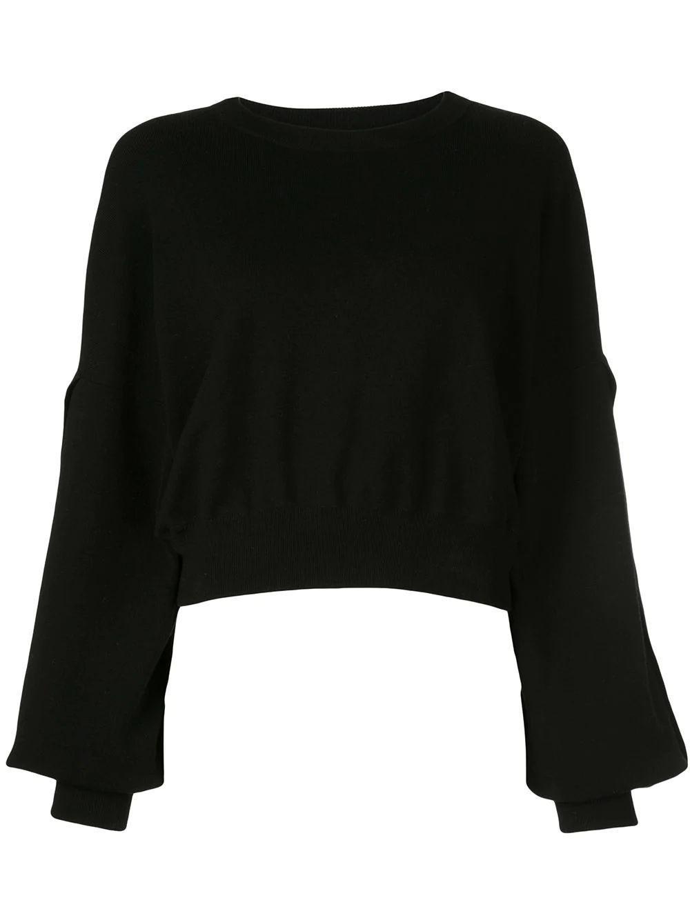 Marie Dolman Sleeve Crop Pullover Item # CC908539702