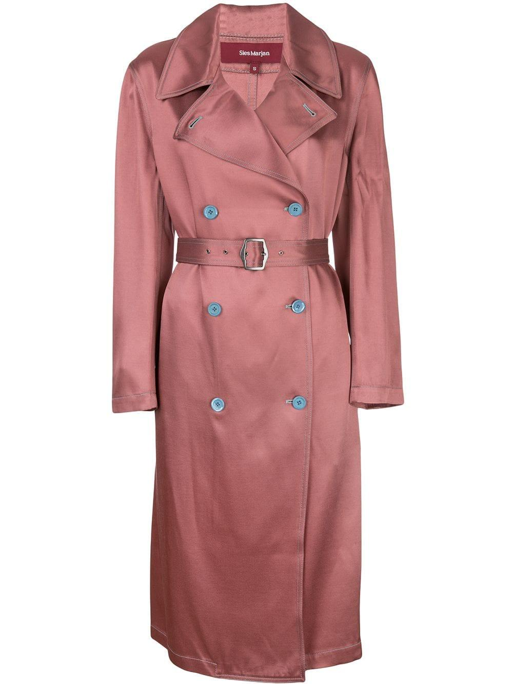 Sigourney Twill Double Breasted Trench Coat