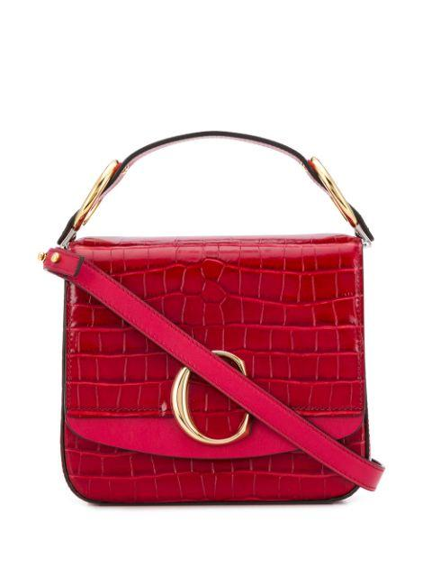 Chloe Croc Embossed Bag Item # CHC19WS199A87634