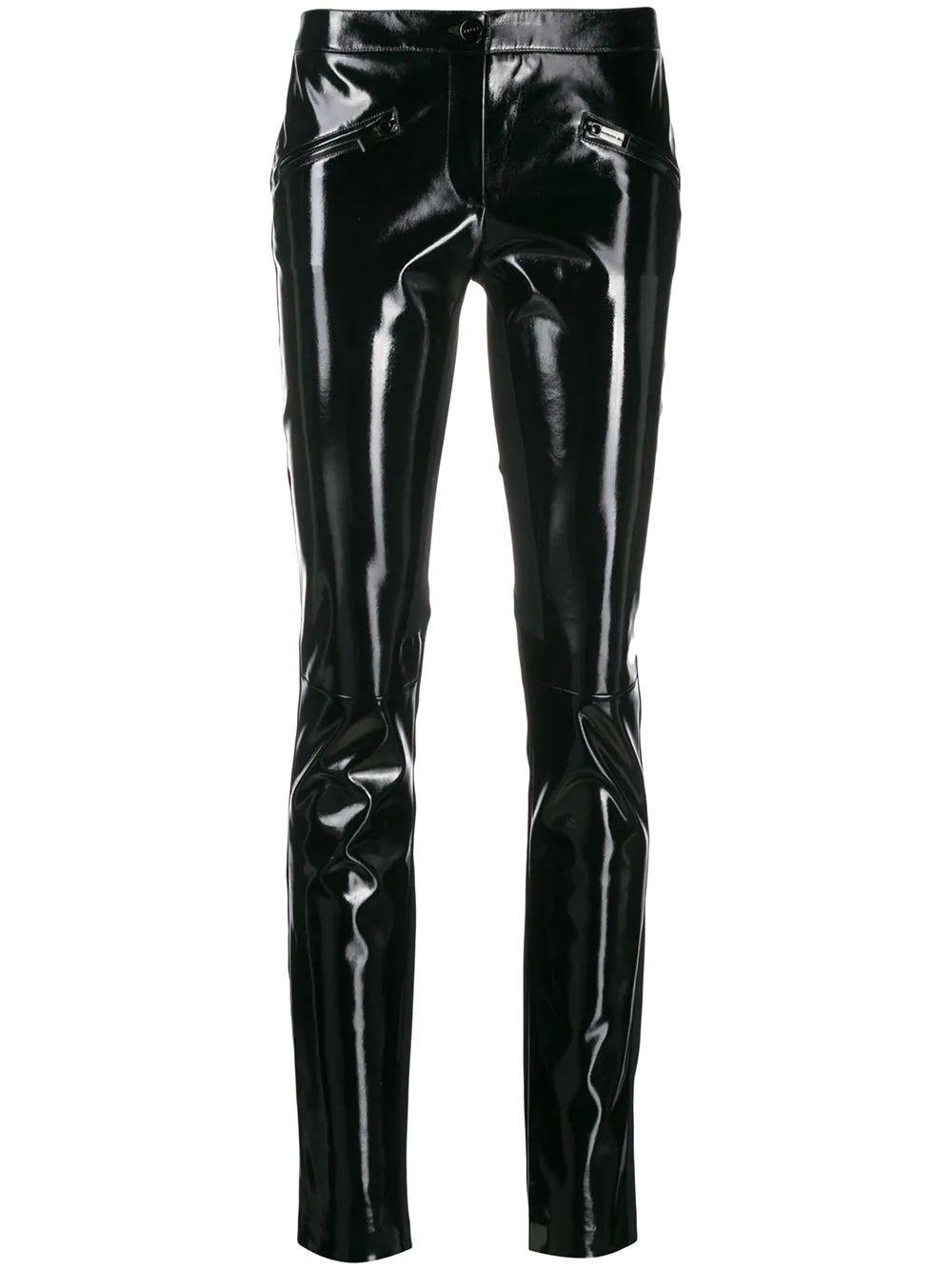 Patent Front Skinny Legging Pant