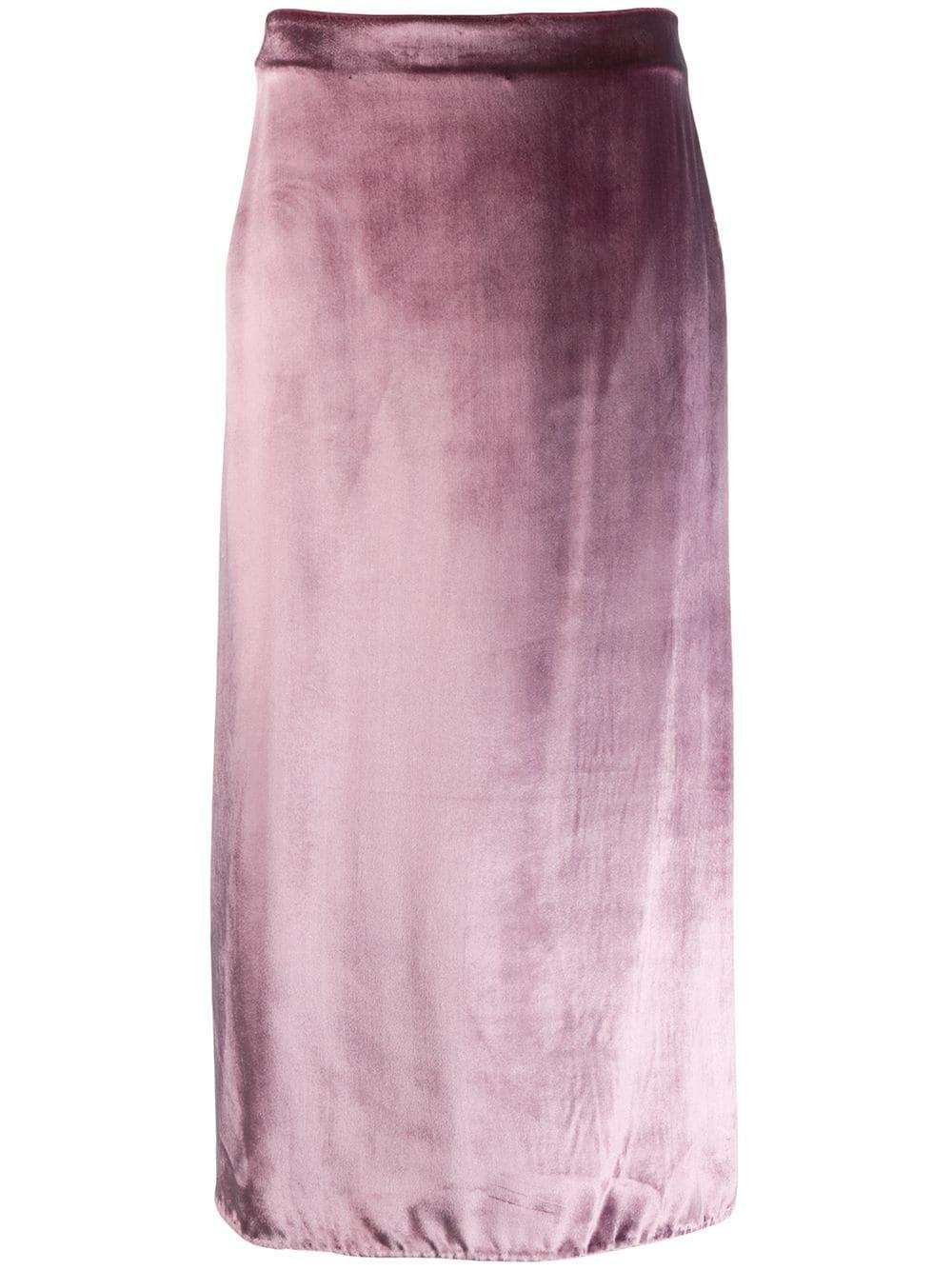 Panne Wrap Skirt