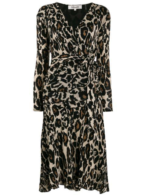 Rilynn Print Wrap Midi Dress