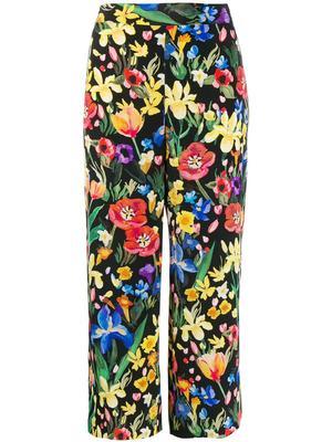 Charleston Printed Silk Trouser
