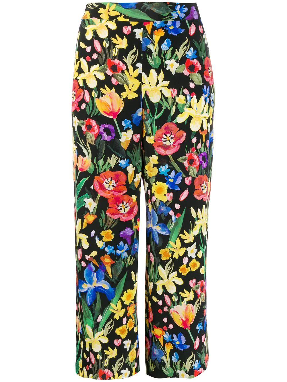 Charleston Printed Silk Trouser