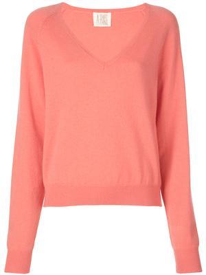 The Girlfriend Vee Neck Cashmere Sweater