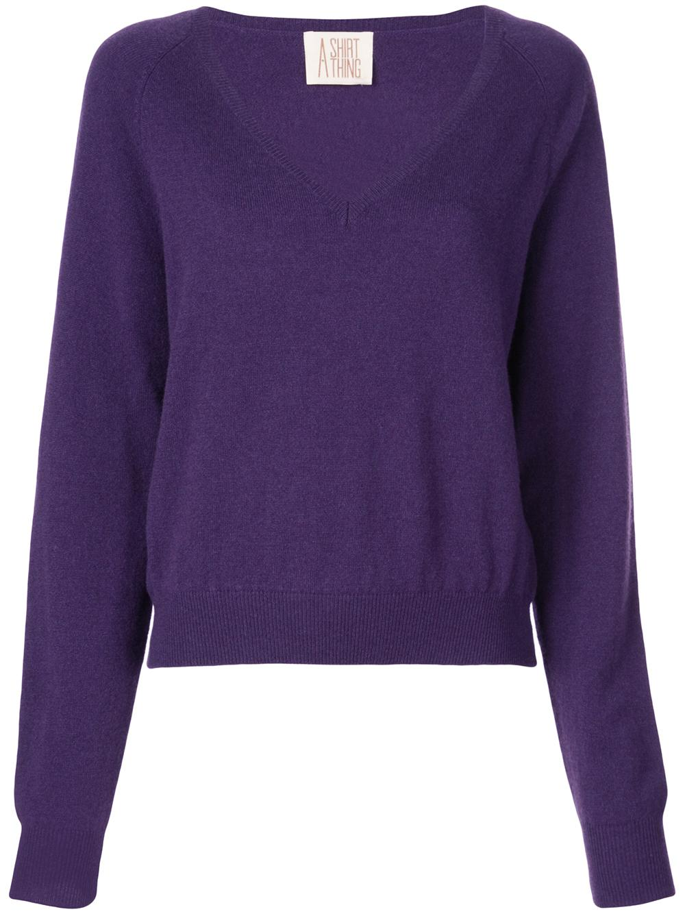 The Girlfriend Vee Neck Cashmere Sweater