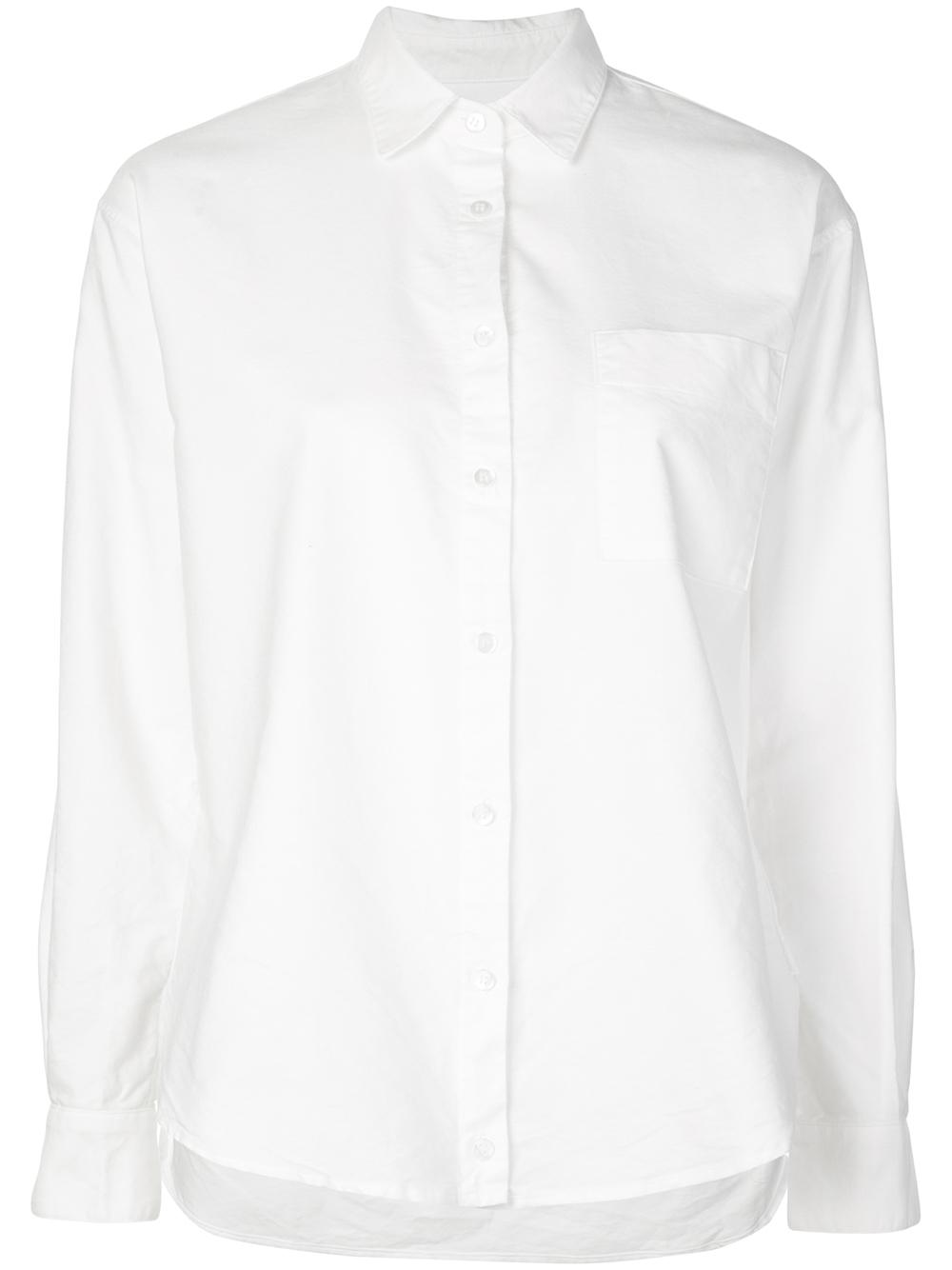 Duke Oxford Drape Front One Pocket Shirt