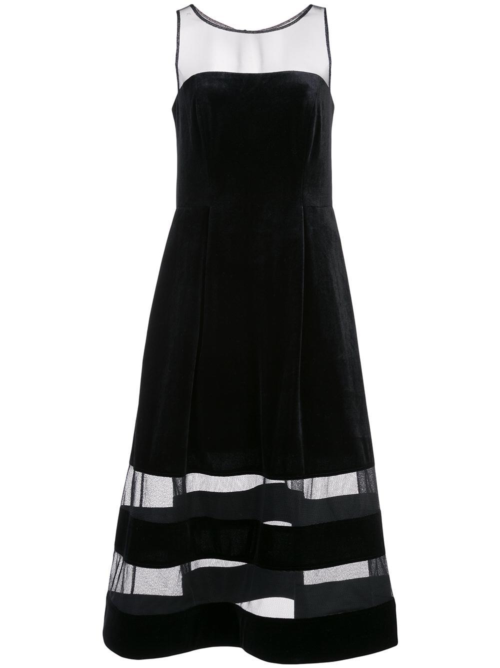 Velvet Shadow Stripe Dress