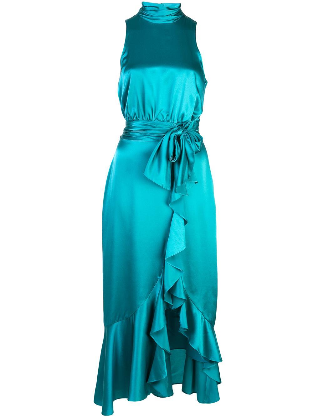Winona Silk Halter Gown