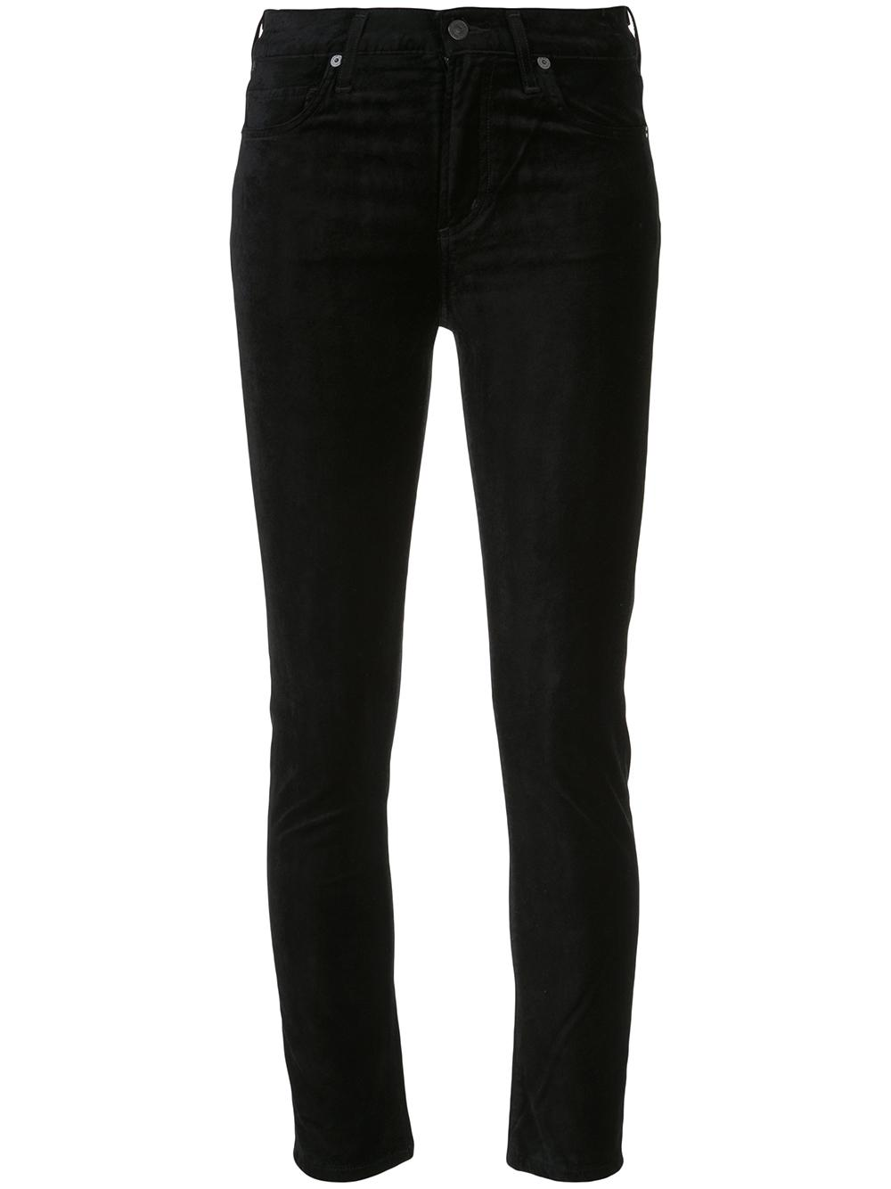 Harlow Velour Ankle Mid Rise Skinny