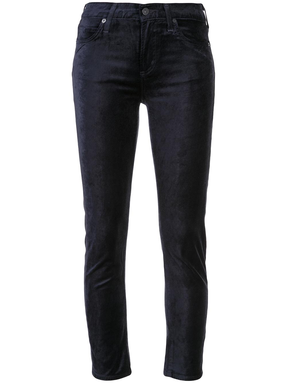 Harlow Velour Ankle Mid Rise Skinny Item # 1778-1184