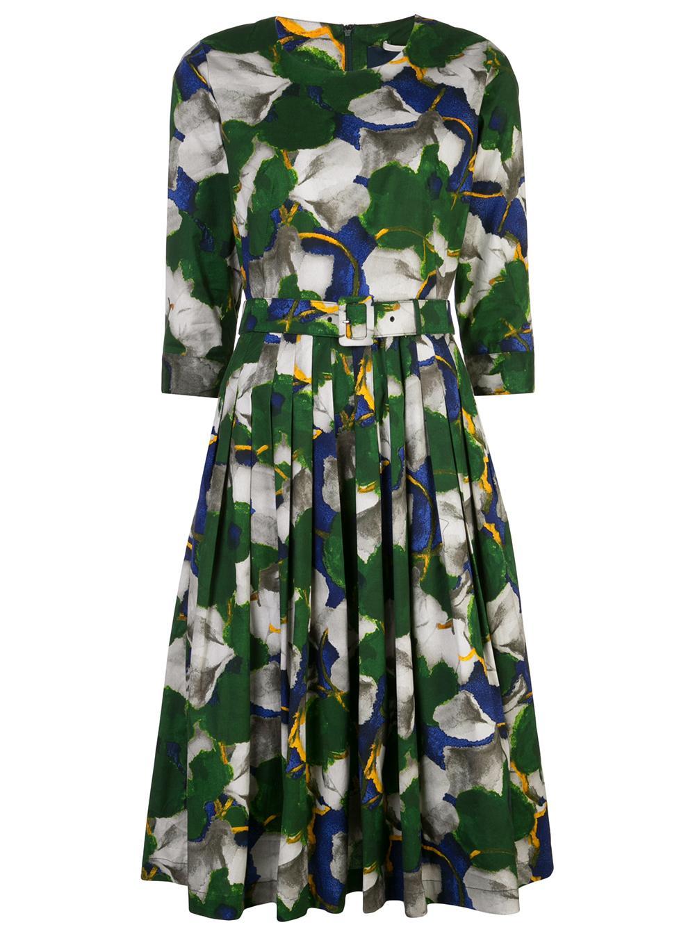 Florance Crew Neck 3/4 Sleeve Dress