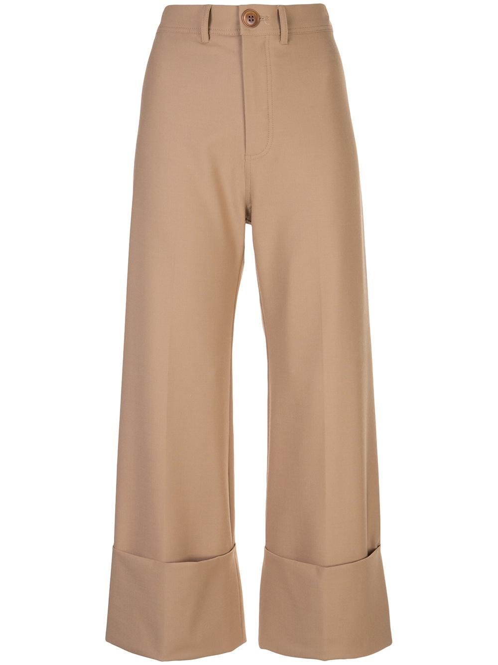 Hayes Cuff Crop Wool Solid Pant