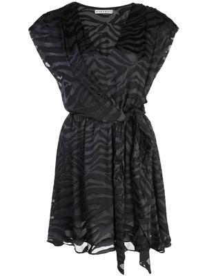Essie Deep V Tie Waist Dress