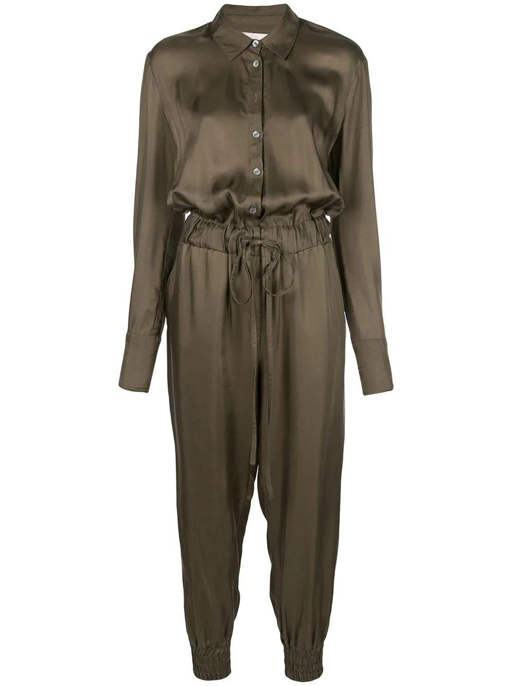 Joyce Silk Drawstring Jumpsuit Item # ZP353304Z