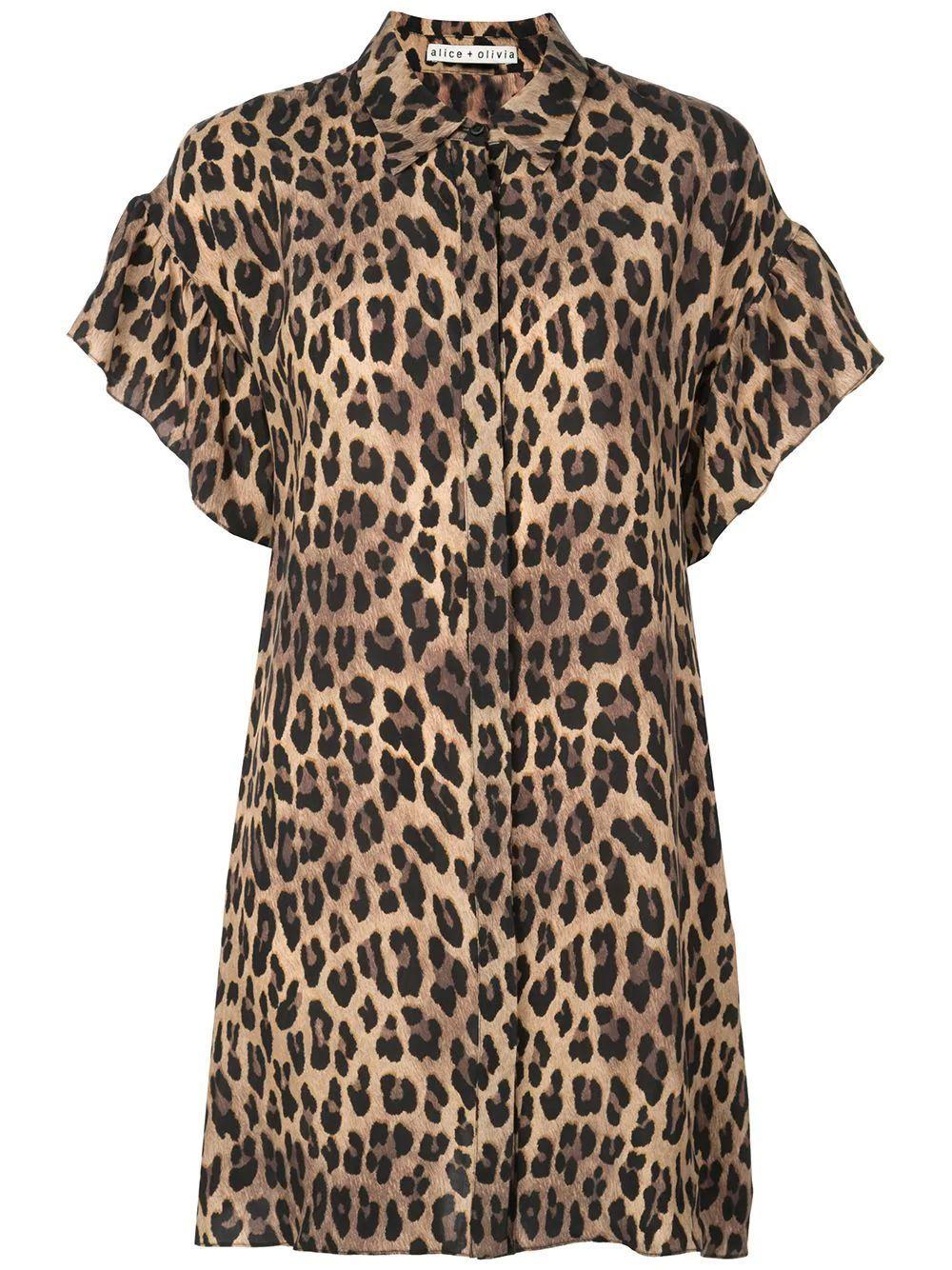 Jude Ruffle Button Down Tunic Dress Item # CC909P46503
