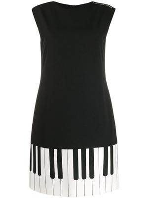 Sleeveless Piano Key Dress