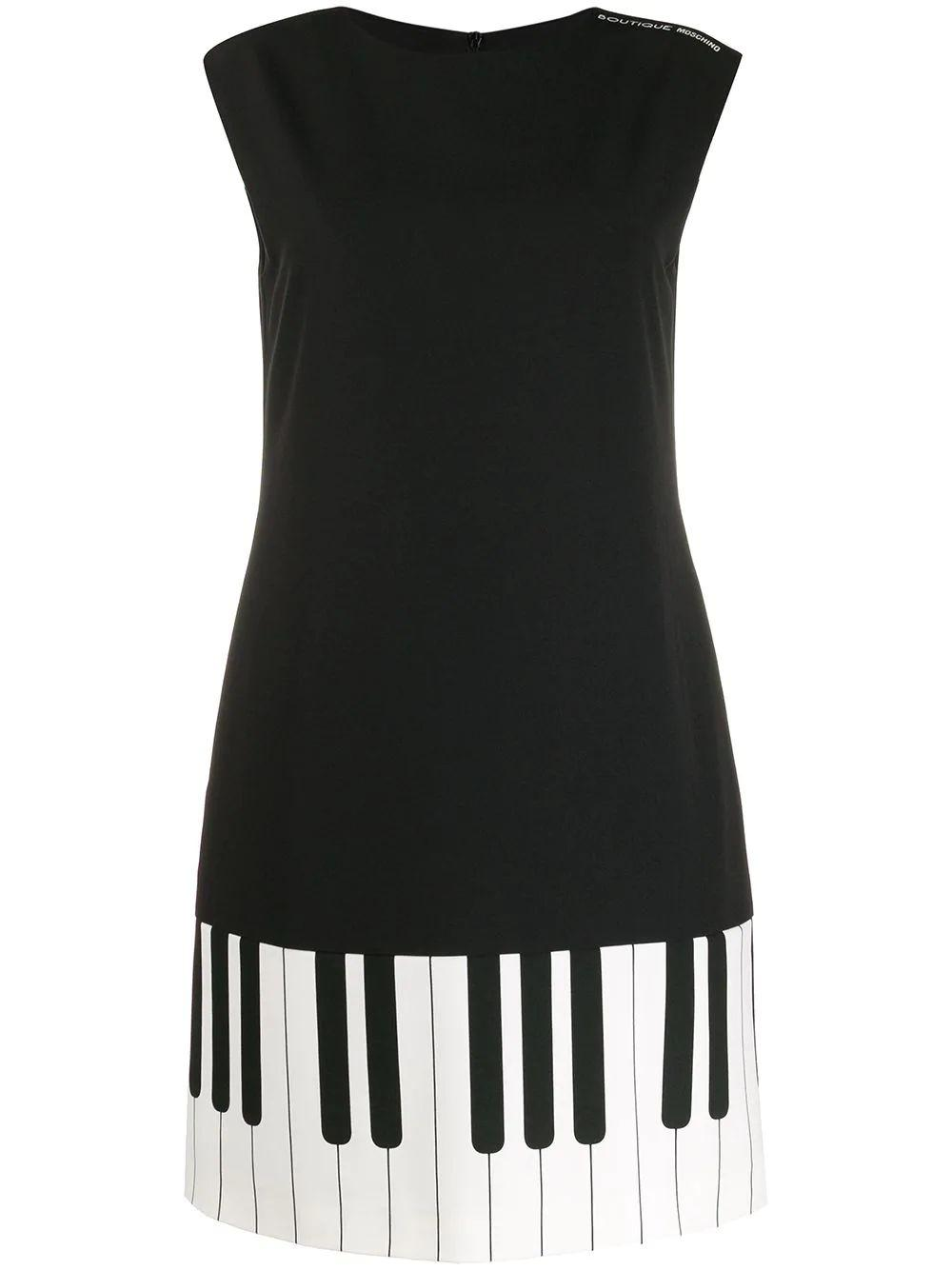 Sleeveless Piano Key Dress
