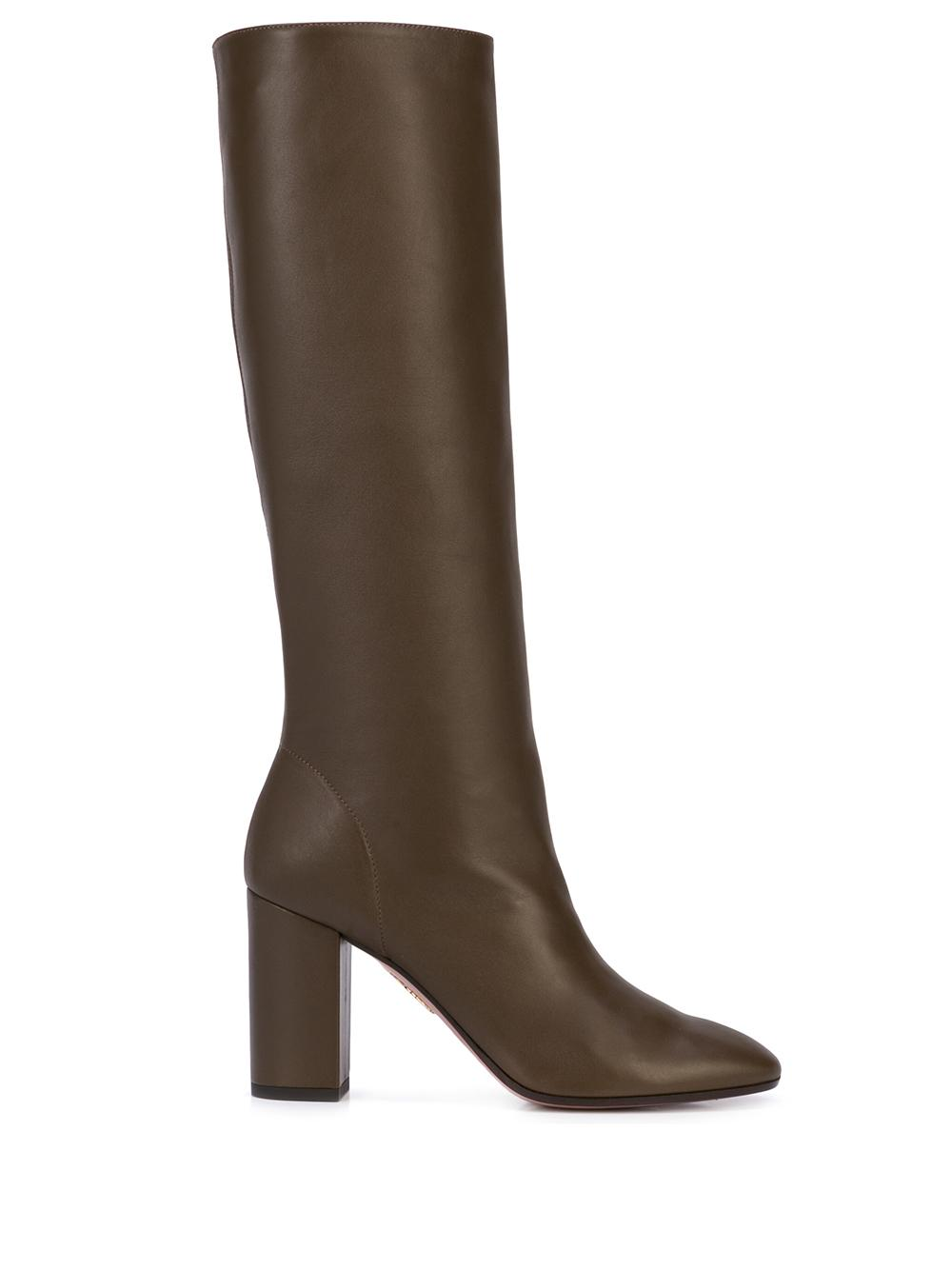 Boogie 85mm Leather Slouch Boot Item # BOOMIDB2-NAP-DMG