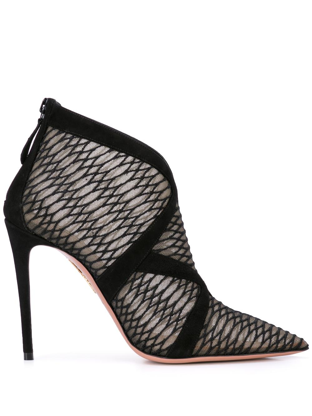 So Vera Snake Tulle/Suede 105mm Bootie Item # SOVIGB0-STU-000