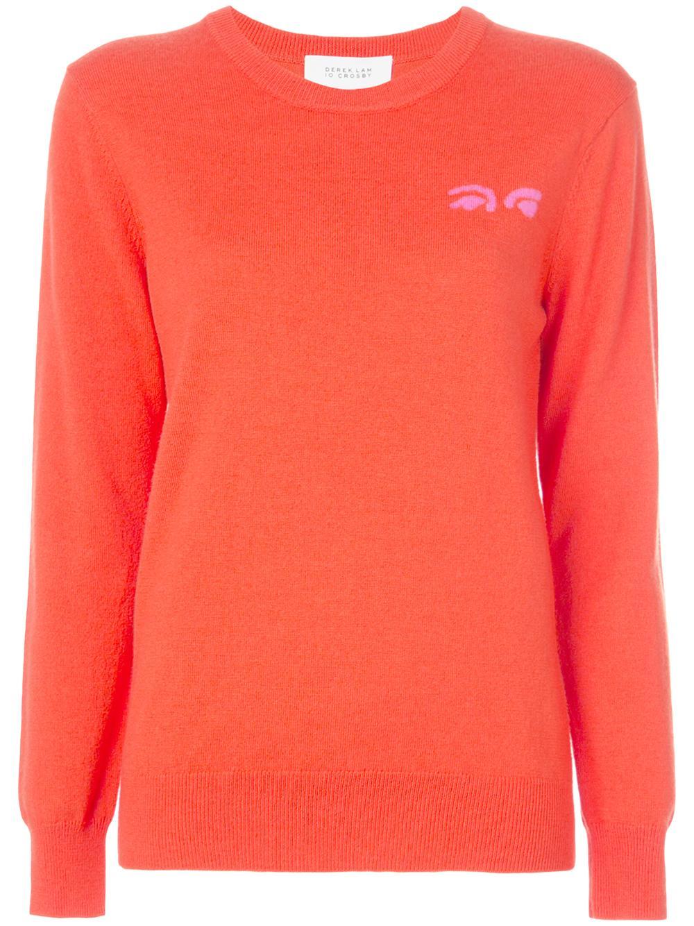 Crewneck Sweater With Eyes Intarsia Item # TF91906MW