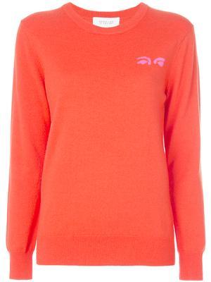 Crewneck Sweater With Eyes Intarsia