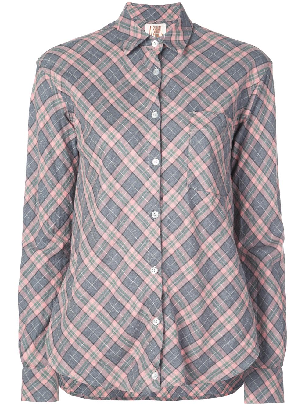 Duke Plaid Drape Front One Pocket Shirt