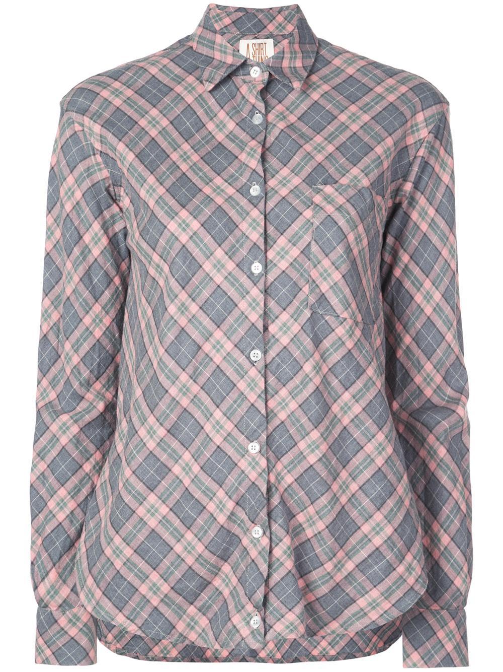 Duke Plaid Drape Front One Pocket Shirt