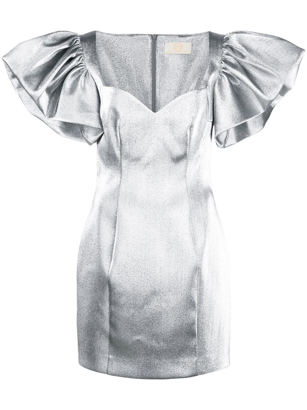 Sweetheart Neck Mini Dress With Full Skirt