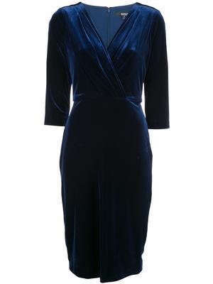 Front Drape Velvet Cocktail Dress