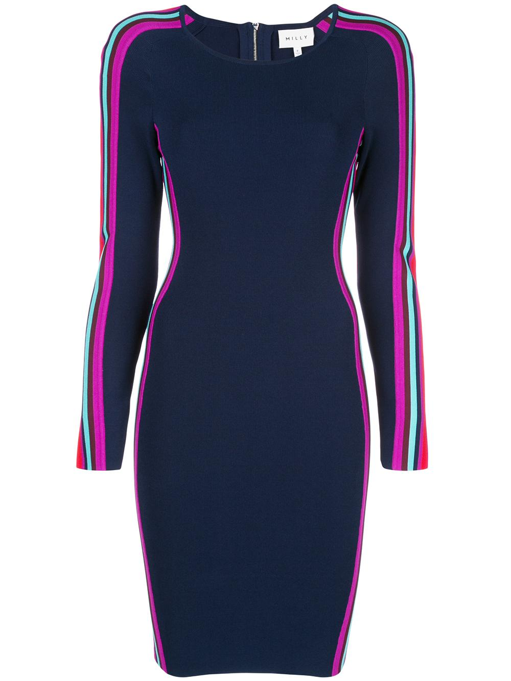 Racer Stripe Fitted Knit Dress Item # 223JK120366