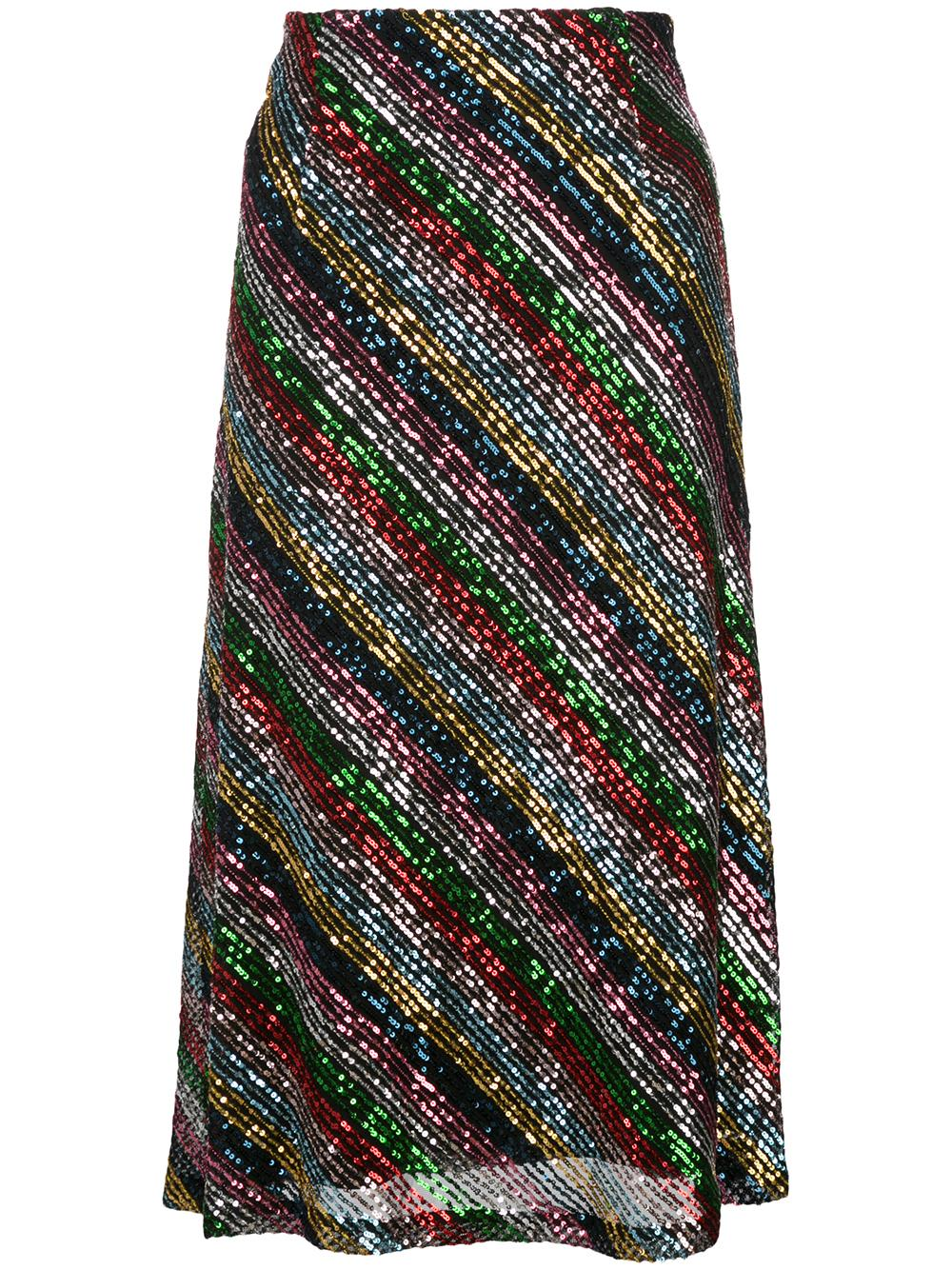 Bias Sequin Skirt