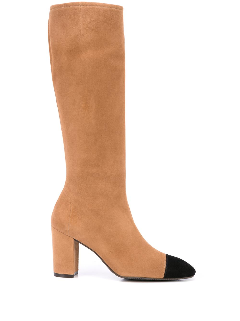 Tall 60mm Boot With Cap Toe Item # JACINDA