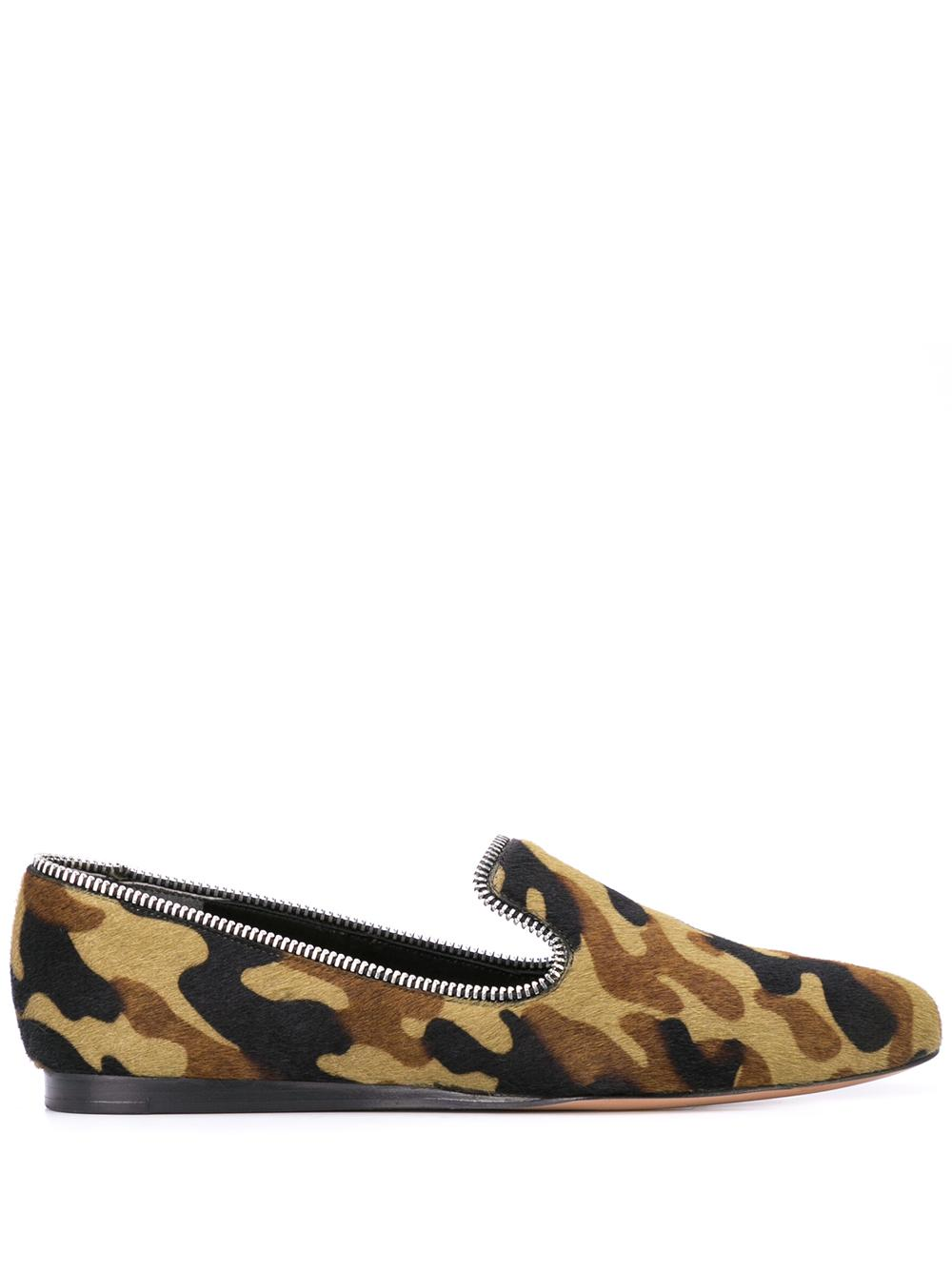 Camo Loafer With Zipper Trim Item # F190806HC