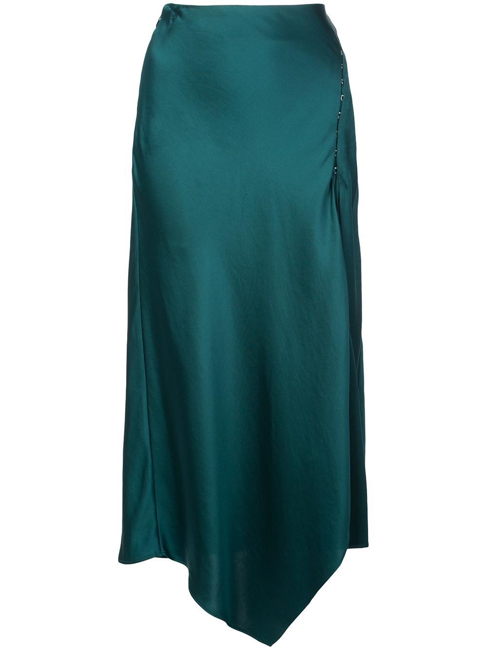 Crepe Back Satin Hankercheif Skirt Item # 419-3009-C