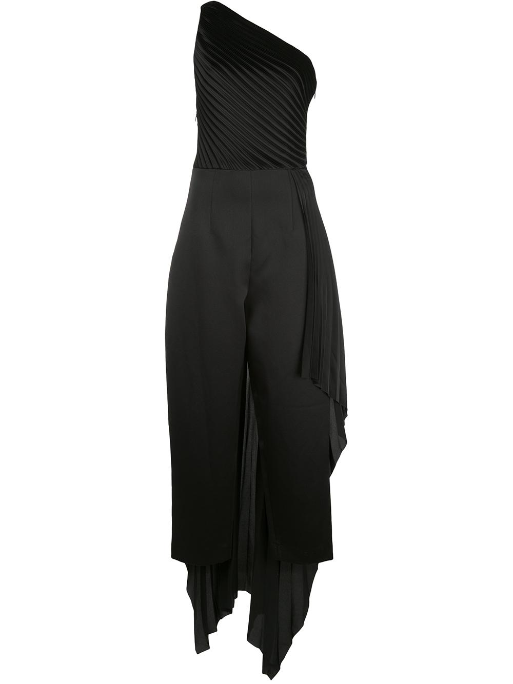 Winnie One Shoulder Side Drape Jumpsuit