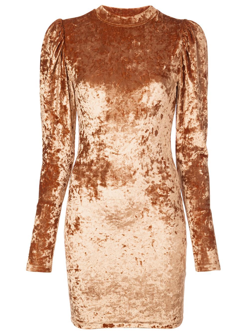 Lulu Velevt Mini Puff Shoulder L/S Dress Item # K209-CSV-F19