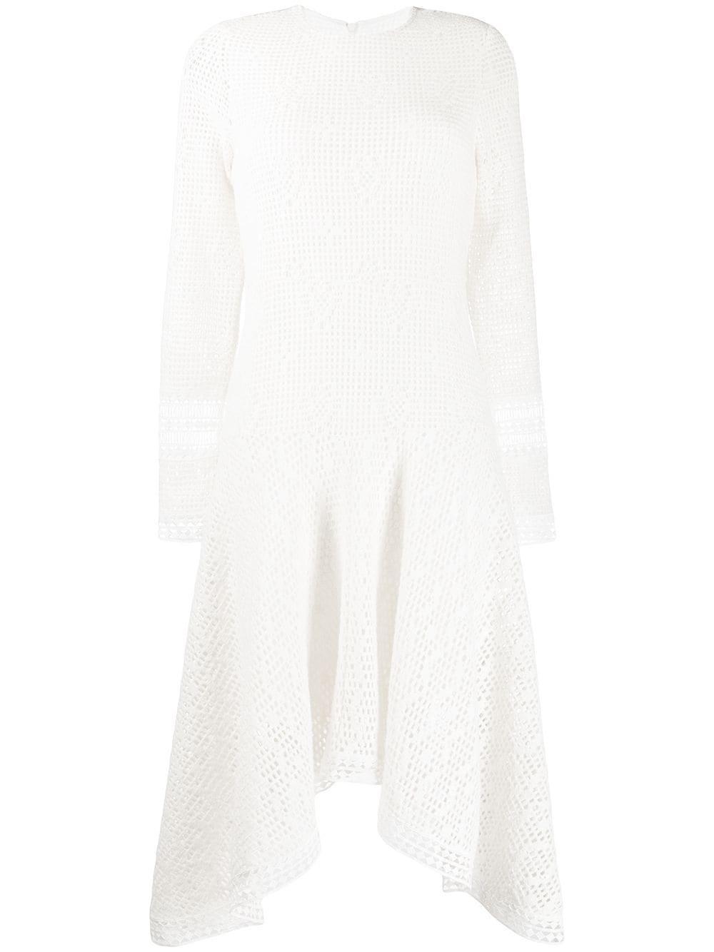 Long Sleeve Drop Waist Crochet Dress