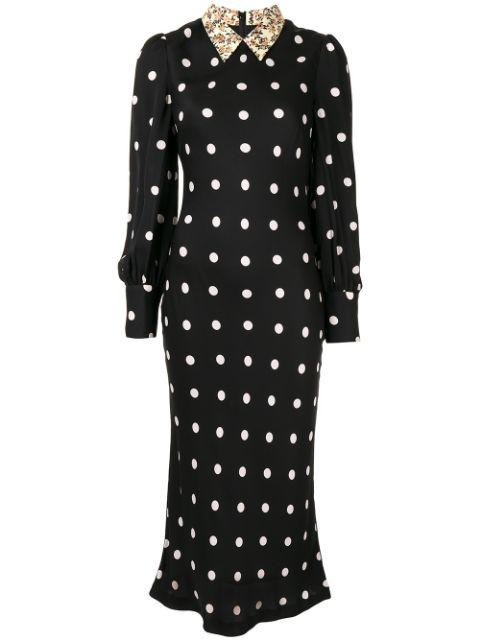 Penelope Long Sleeve Collared Midi Dress