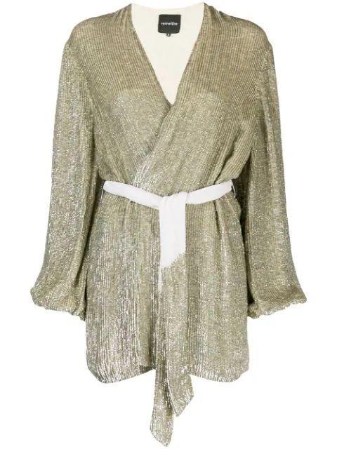 Gabrielle Long Sleeve Neck Mini Dress With Belt