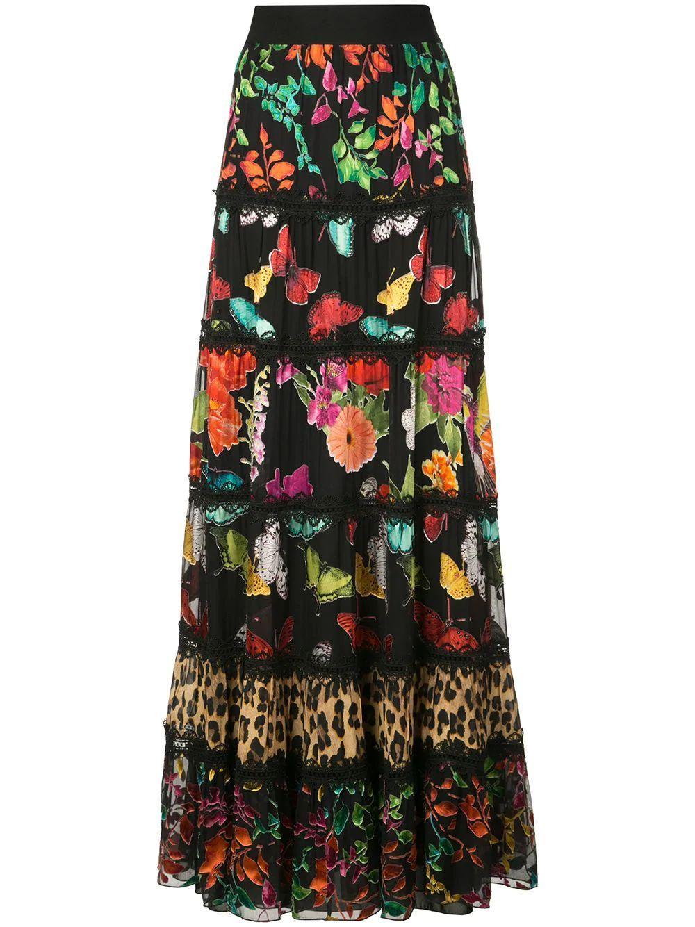 Lesa Paneled Maxi Skirt Item # CC909B45307