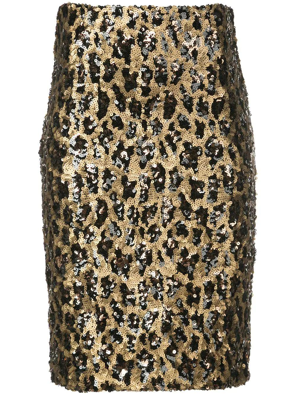 Ramos Sequin Fitted Skirt Item # CC909E33309