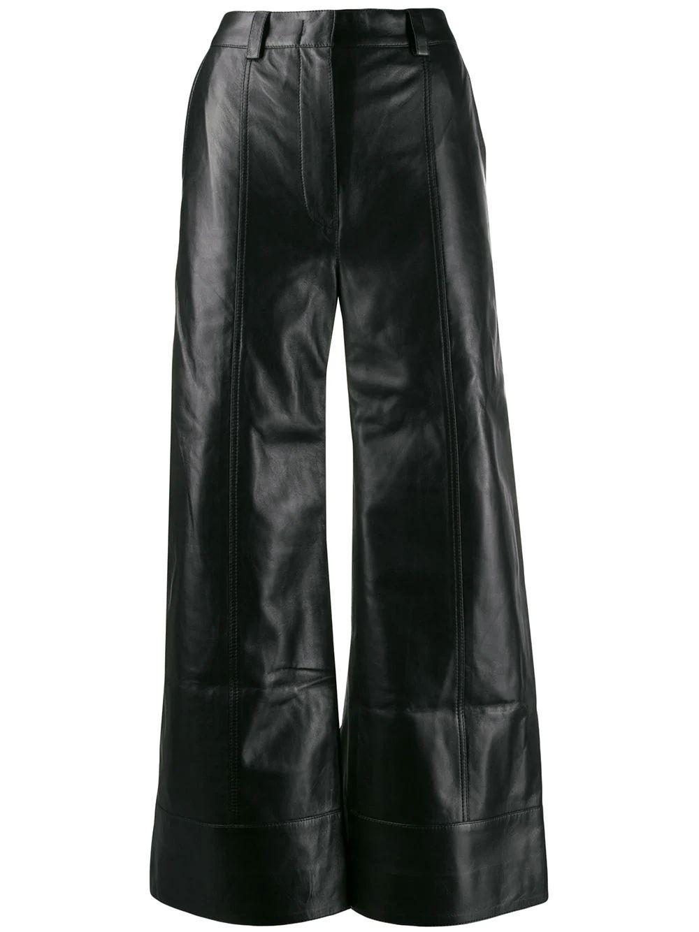 Magen Leather Crop Pants