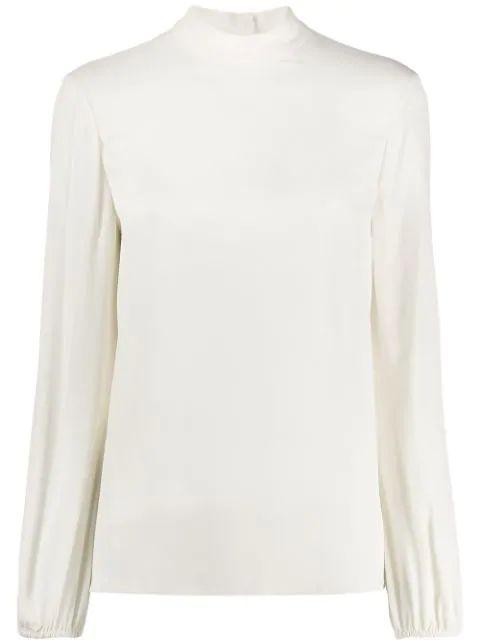 Classic Mock Neck Jersey Top