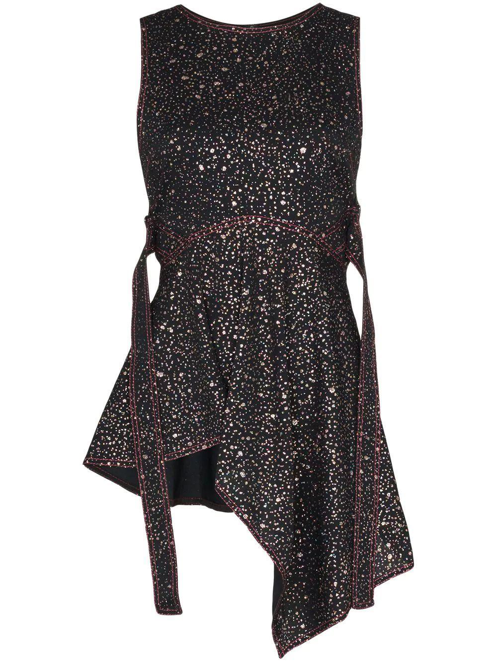 Genevieve Glitter Marocaine Sleeveless Top Item # 13MG3081-59820