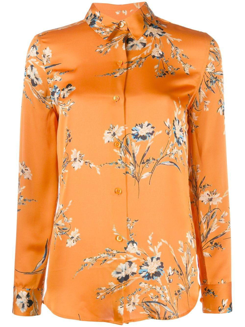 Essential Floral Print Button down Blouse