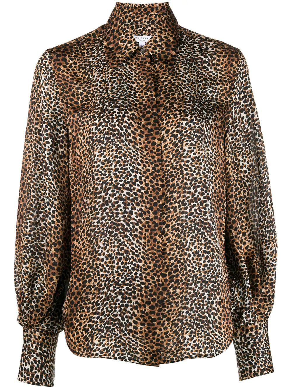 Didina Animal Print Button down Blouse